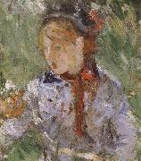 Detail of  The woman and children are in the park, Berthe Morisot