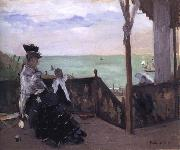 In a Villa at the Seaside, Berthe Morisot