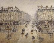 Camille Pissarro Paris-s opera house street oil painting reproduction