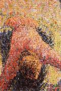 Detail of Pick  Apples, Camille Pissarro