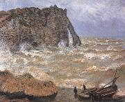 Etretat,Rough Sea, Claude Monet