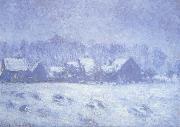 Snow Effect at Giverny, Claude Monet