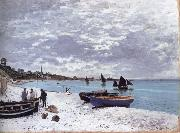 The Beach at Sainte-Adresse, Claude Monet