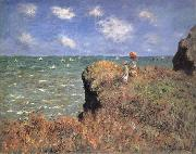 The Cliff Walk,Pourville, Claude Monet