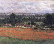Field of Poppies,Giverny, Claude Monet