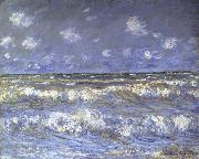 Claude Monet A Stormy Sea oil painting on canvas