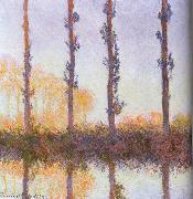 Four pieces of poplar, Claude Monet