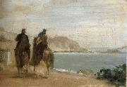 Promenade beside the sea, Edgar Degas