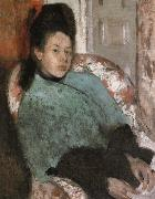Portrait of Elena Carafa, Edgar Degas