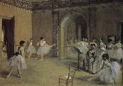 Edgar Degas Opera-s dry running hall oil painting reproduction