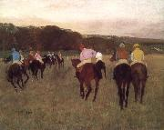 Racehorse ground, Edgar Degas