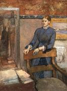 Helene Rouart in her Father-s study, Edgar Degas