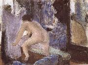 Out off bath, Edgar Degas