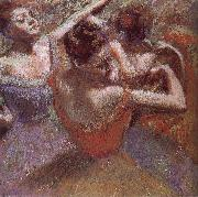 Edgar Degas Dancer triming dress oil painting reproduction