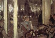 Women in open air cafe, Edgar Degas
