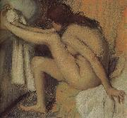 Naked  woman wiping toes, Edgar Degas