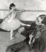 Portrait of a Dancer at her Lesson, Edgar Degas