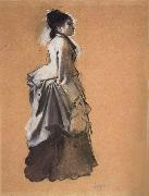Young Woman Street Costume, Edgar Degas