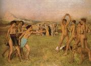 Young Spartans Exercising, Edgar Degas
