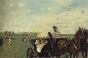 At the Races in the Countryside, Edgar Degas