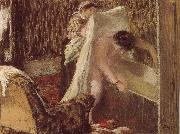 woman after bath, Edgar Degas