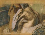 Woman drying her hair after the bath, Edgar Degas