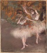 Two Dancers entering the Stage, Edgar Degas