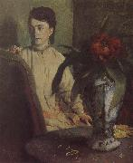 The woman beside th vase, Edgar Degas