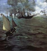 Alabama and Kearsarge, Edouard Manet