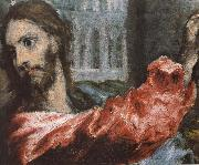 Detail of  The Christ is driving businessman in the fane, El Greco
