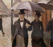 Detail of Rainy day in Paris, Gustave Caillebotte