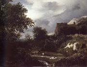 Bleaching Ground in a hollow by a cottage, Jacob van Ruisdael