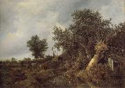 Landscape with a cottage and trees, Jacob van Ruisdael