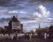 The Dam with the weigh house at Amsterdam, Jacob van Ruisdael