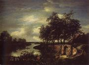 River Landscape with the entrance of a Vault