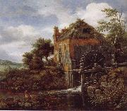 Thatch-Roofedhouse with a water Mill, Jacob van Ruisdael