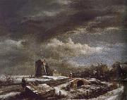 Jacob van Ruisdael Winter Landscape oil painting reproduction