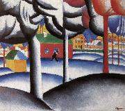 Kasimir Malevich Landscape oil painting reproduction