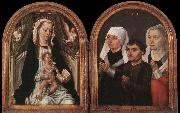 Master of the Saint Ursula Legend Diptych with the Virgin and Child and Three Donors oil painting
