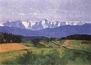 Max Buri Blick vom Gurten Bei Bern oil painting reproduction
