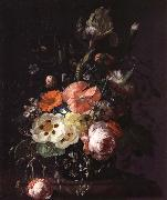 Still Life with  with Flowers on a Marble Table Top, REMBRANDT Harmenszoon van Rijn