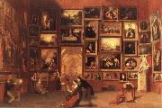 Samuel FB Morse Gallery of the Louvre oil painting