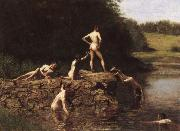 Thomas Eakins Swimming oil painting reproduction