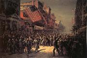 Thomas Nast The Departure of the Seventh Regiment to the War oil painting