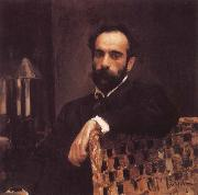 Portrait of the Artist Isaac Levitan, Valentin Serov