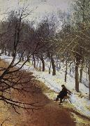 Vasily Surikov Zubovsky Boulevard in Winter oil painting reproduction