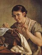 Vasily Tropinin Lacemaker oil painting