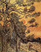 Pine trees against an evening Sky, Vincent Van Gogh