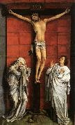 Christus on the Cross with Mary and St John, WEYDEN, Rogier van der