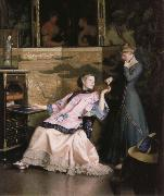 William McGregor Paxton The new necklace oil painting